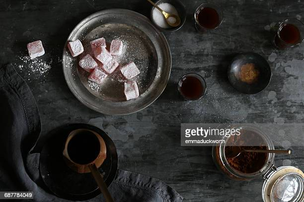turkish delight and coffee