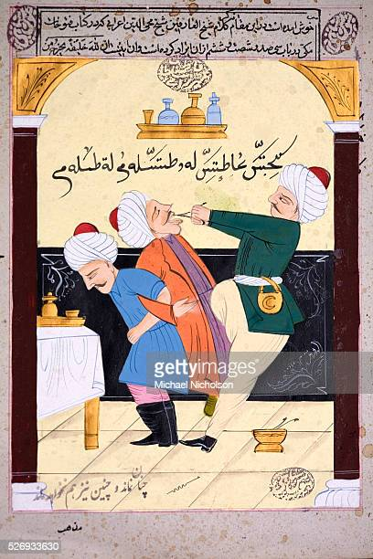 Turkish dentistry circa late 19th century Extracting a tooth