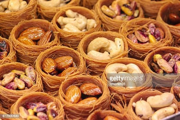 Turkish dessert, Baklava with bird nest shape