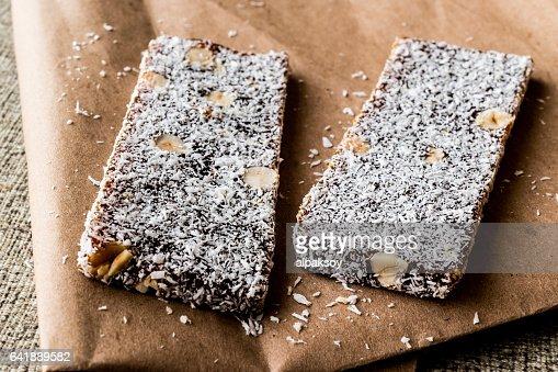 Turkish Dessert Cezerye With Walnut Coconut Powder Stock Photo