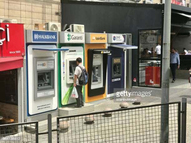 Turkish different bank ATM in Bahcelievler Distirict.