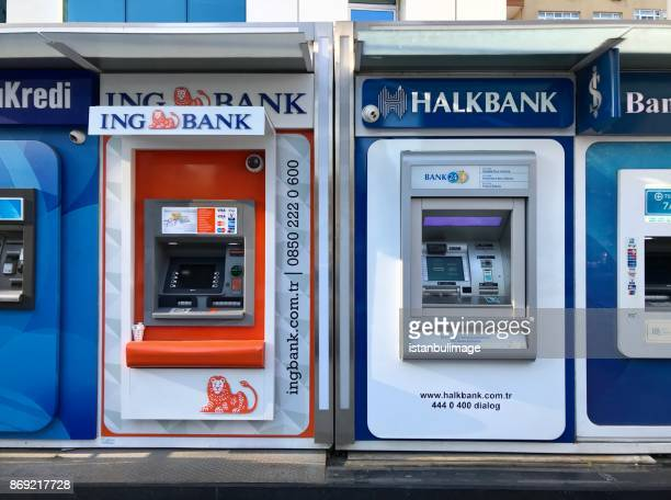 Turkish different bank ATM in Gayrettepe Distirict.