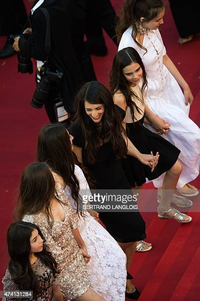 Turkish director Deniz Gamze Erguven arrives with Turkish actresses Doga Zeynep Doguslu Ilayda Akdogan Elit Iscan Gunes Sensoy and Tugba Sunguroglu...