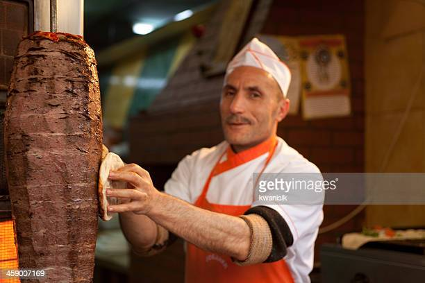 Türkische doner kebab und chief