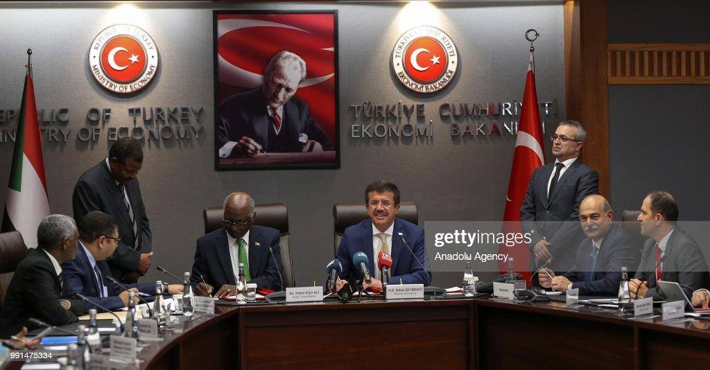 Zeybekci Hatim Al Sir Meeting In Ankara Pictures Getty Images