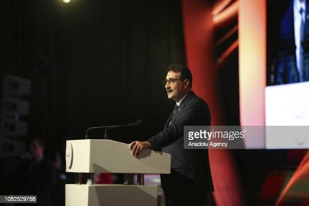 Turkish Energy and Natural Resources Minister Fatih Donmez delivers a speech during the opening ceremony of the SOCARs STAR Refinery Project in...