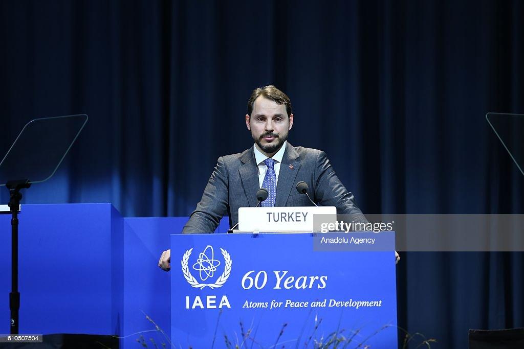 Turkish Energy Minister Berat Albayrak in Vienna : News Photo