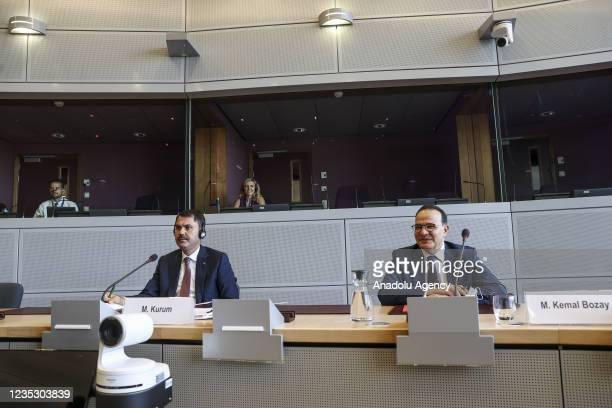 Turkish Environment and Urbanization Minister Murat Kurum , Permanent Representative of Turkey to the European Union, Ambassador Mehmet Kemal Bozay...