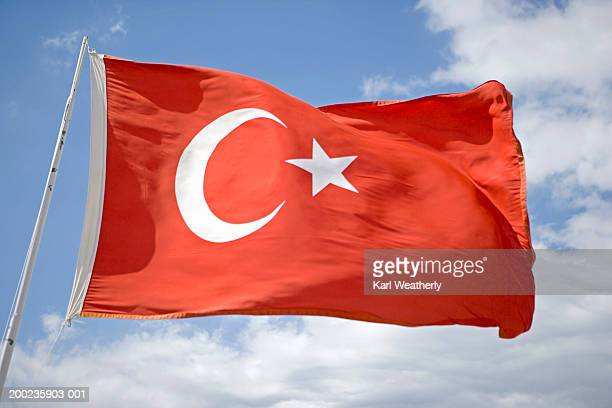 Turkish flag, close-up