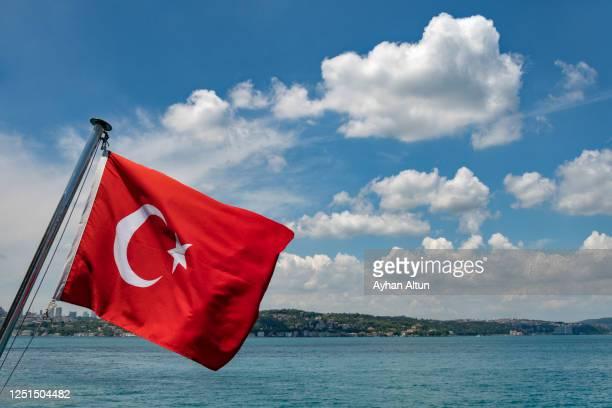 turkish flag - turquia fotografías e imágenes de stock