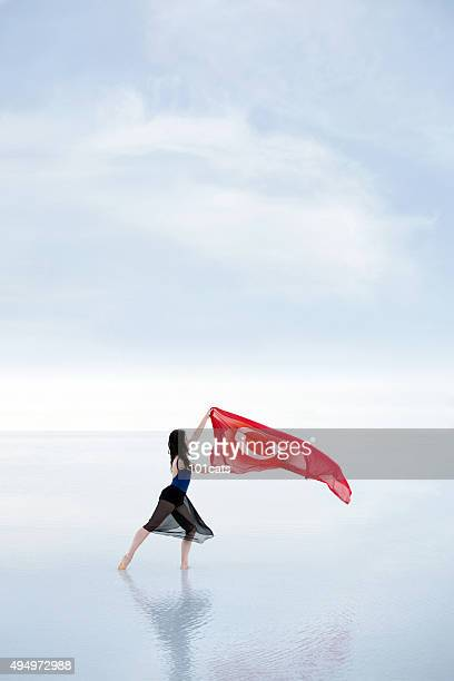 Turkish flag waving in the wind outdoors