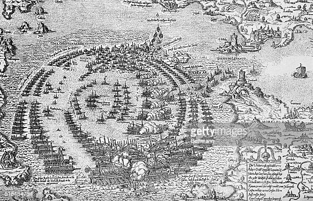 Turkish fleet under AliPasha was almost completely destroyed by force of Holy League under DonJuan d'Austria