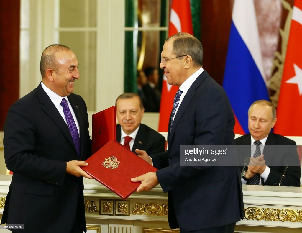Turkish President Recep Tayyip Erdogan in Moscow : News Photo