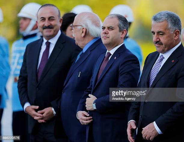Turkish Foreign Minister Mevlut Cavusoglu Turkey's Youth and Sports Minister Cagatay Kilic Turkish Culture and Tourism Minister Nabi Avci and...