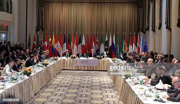 Turkish Foreign Minister Mevlut Cavusoglu US Secretary of State John Kerry DirectorGeneral for Research and Security Affairs Ambassador Tunc Ugdul...