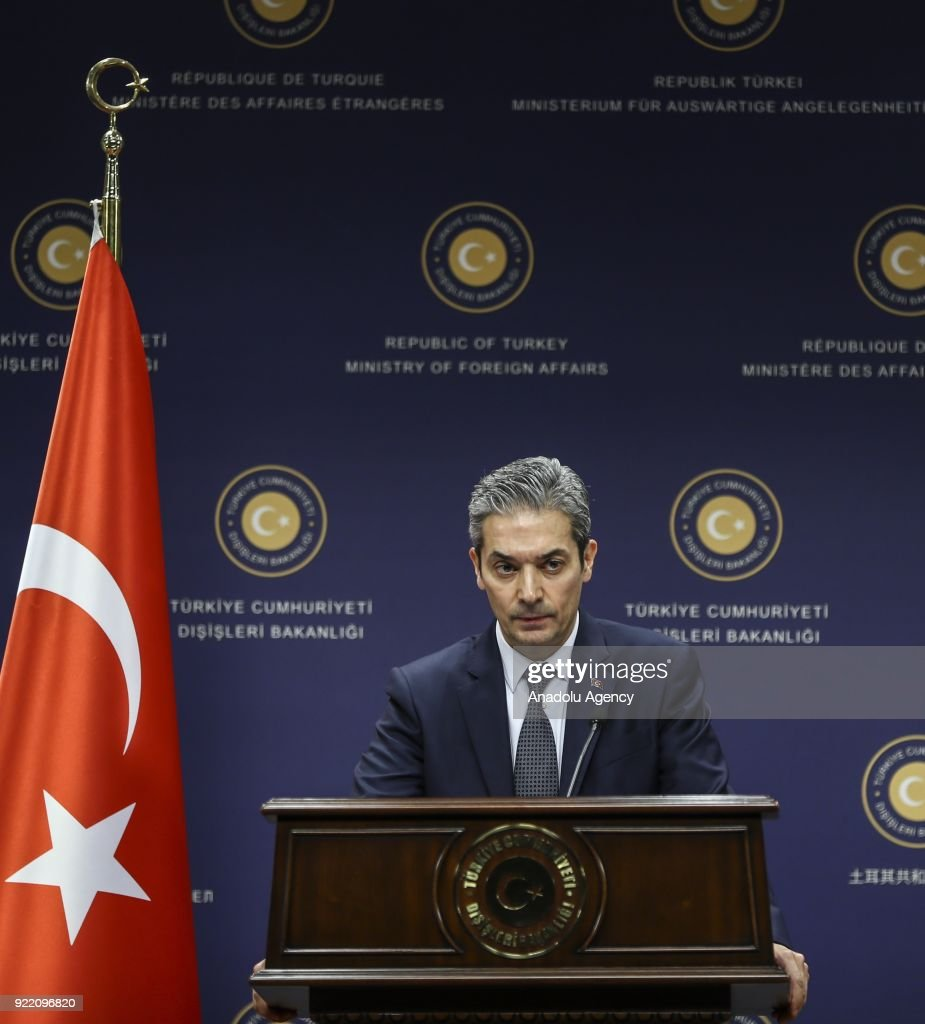 Turkish FM Spokesman Hami Aksoy : News Photo