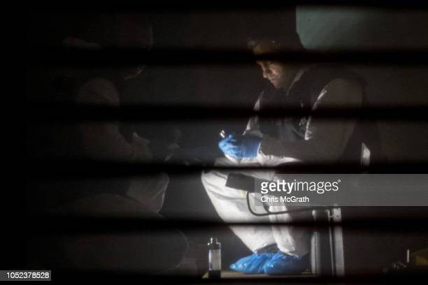 Turkish forensic police work in a room inside the Saudi Arabian consulate general residence as investigations continue into the disappearance of...