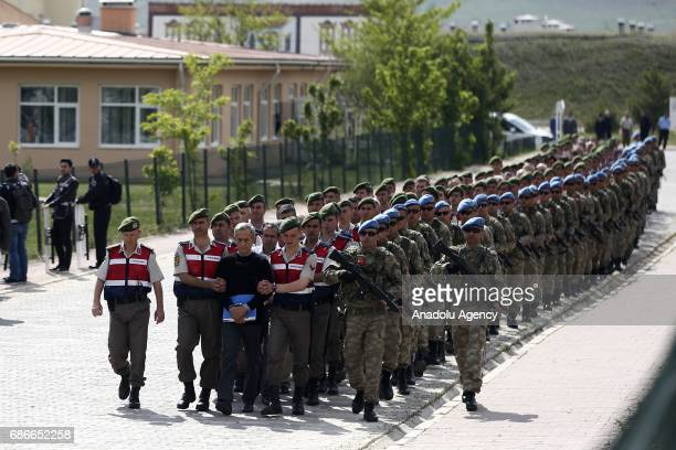 Turkish Gendarmeries escort Akin Ozturk and others involved in last Julys attempted coup in Turkey as they leave the prison where they are being held...