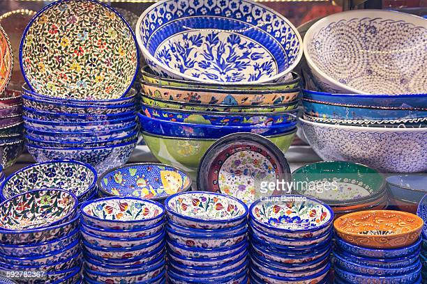 Turkish handmade pottery, typical handicraft