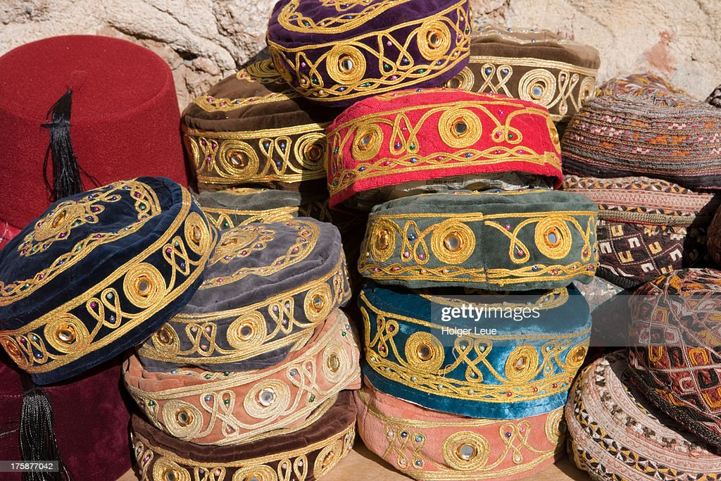 075a0971 Turkish Hats For Sale In Souvenir Shop In Old Town Stock Photo ...