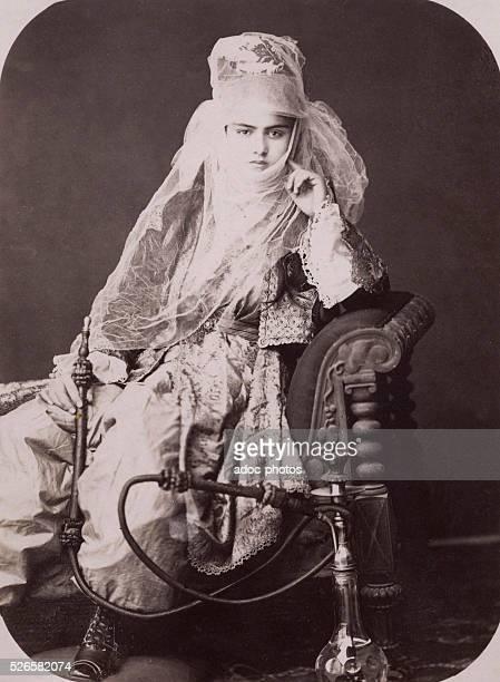 Turkish lady of Smyrna today Izmir Ca 1890