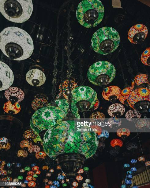 turkish lamps - ramadan decoration stock pictures, royalty-free photos & images