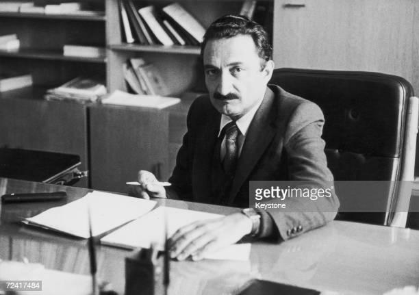 Turkish Leader of the Opposition Mustafa Bulent Ecevit head of the Cumhuriyet Halk Partisi or CHP June 1980