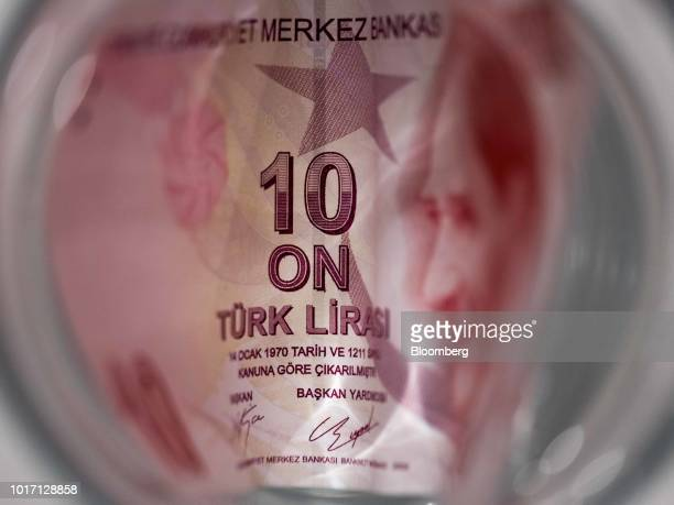 Turkish Lira banknote sits in this arranged photograph in London UK on Wednesday Aug 15 2018 Turkey took its boldest steps yet to try to ward off a...