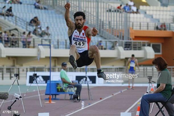 STADIUM HERAKLION ATTICA GREECE Turkish long jumper Alper Kulaksiz is pictured in action at the 2015 European Athletics Team Championships 1st League...
