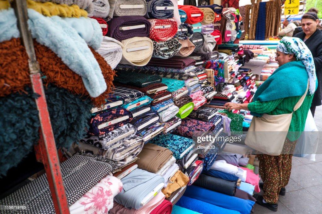 Turkish Market, Berlin : Stock Photo