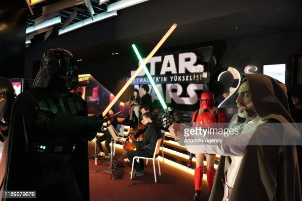 Turkish members of the 501st Legion and the Rebel Legion worldwide Star Wars fan clubs attend a private screening of ''Star Wars The Rise of...