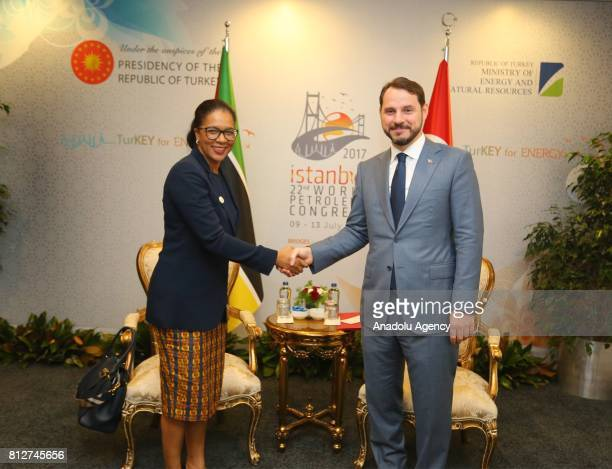 Turkish Minister of Energy and Natural Resources Berat Albayrak and Minister of Mineral Resources and Energy of Mozambique Leticia Deusina da Silva...