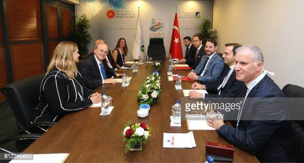 Turkish Minister of Energy and Natural Resources Berat Albayrak meets with Daniel Yergin Pulitzer Prize winning Author and Vice Chairman of IHS...