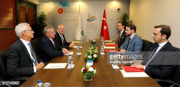 Turkish Minister of Energy and Natural Resources Berat Albayrak meets with President of the World Petroleum Congress Jozsef Laszlo Toth within the...