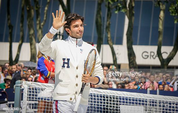 Turkish model Akin Akman attends the brand event of Rafael Nadal Global Brand Ambassadorship Launch at Bryant Park on August 25 2015 in New York City