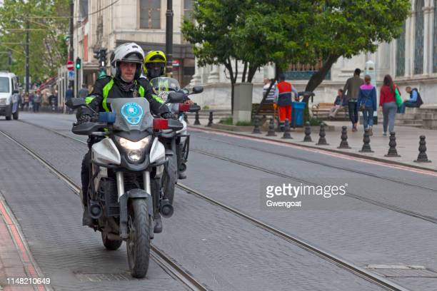 Turkish motorcycle police officers