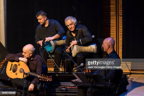Turkish musician and composer Omar Faruk Tekbilek and his son Murat Tekbilek perform on dumbeks with special guest ArmenianAmerican 'oud' player Ara...