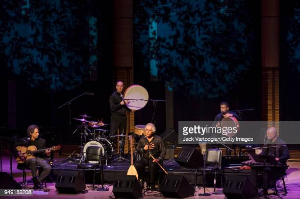 Turkish musician and composer Omar Faruk Tekbilek performs on the endblown wooden Turkish flute known as the 'ney' with his Ensemble with Turkish...