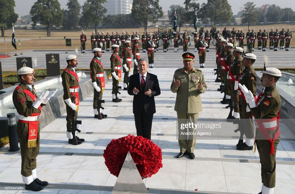 Turkish National Defense Minister Hulusi Akar in Pakistan : News Photo