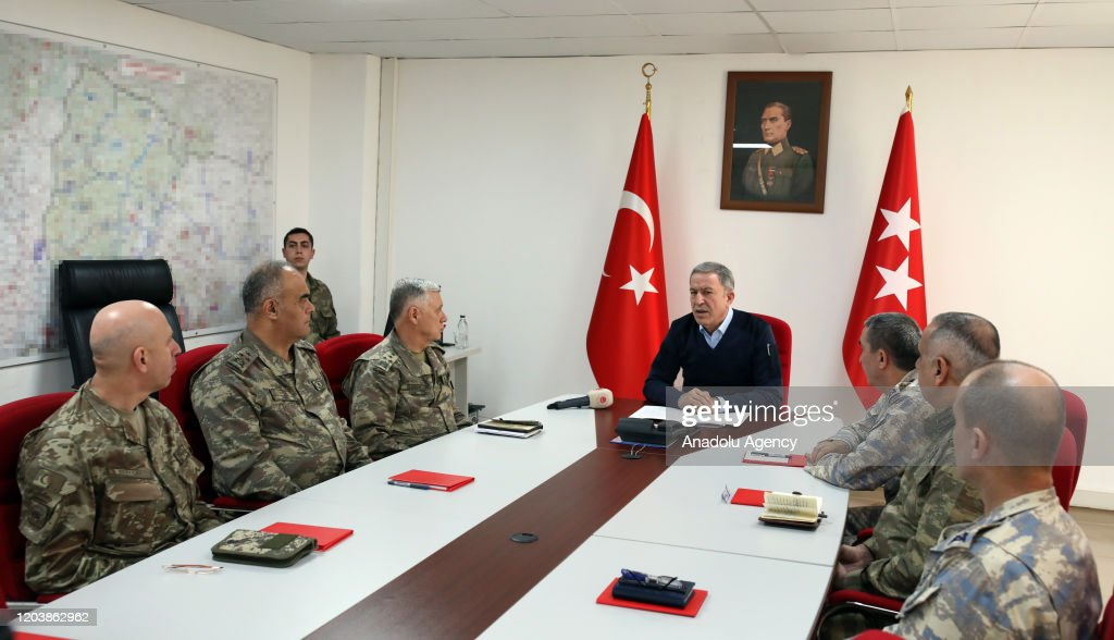 Turkish National Defense Minister Hulusi Akar... : News Photo