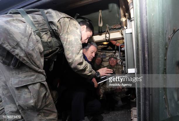Turkish National Defense Minister Hulusi Akar Turkish Chief of General Staff Yasar Guler Land Forces Commander Umit Dundar Air Forces Commander Hasan...