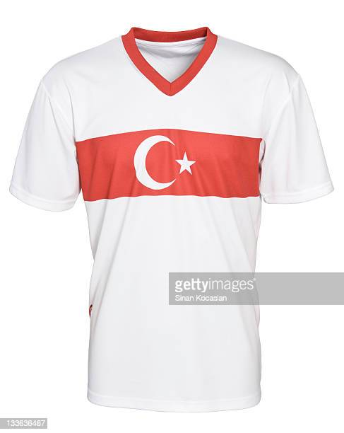türkische national football team uniform - fußballtrikot stock-fotos und bilder