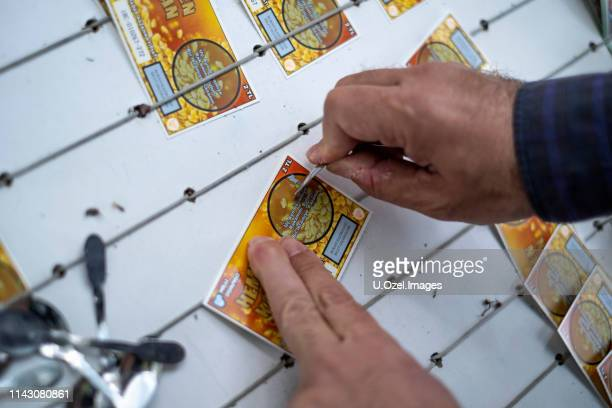 turkish national lottery tickets - lottery ticket stock pictures, royalty-free photos & images