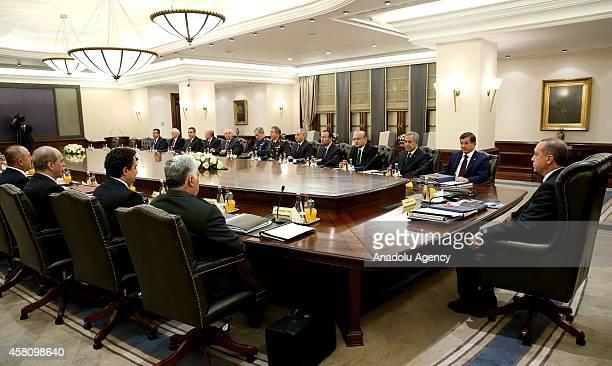Turkish National Security Council meeting starts under the chairmanship of the Turkish President Recep Tayyip Erdogan at Cankaya Palace in Ankara...