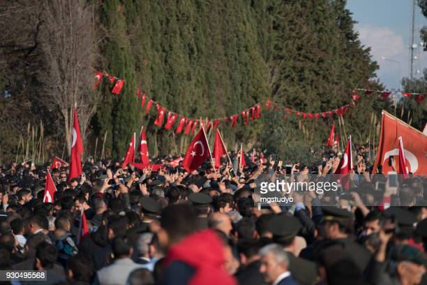 turkish people are walking with turkish flag in formal way - republic day stock pictures, royalty-free photos & images