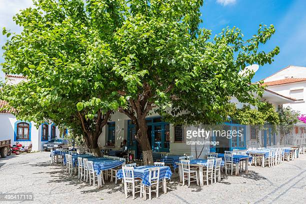 turkish people in cafe,alacati - mulberry tree stock pictures, royalty-free photos & images