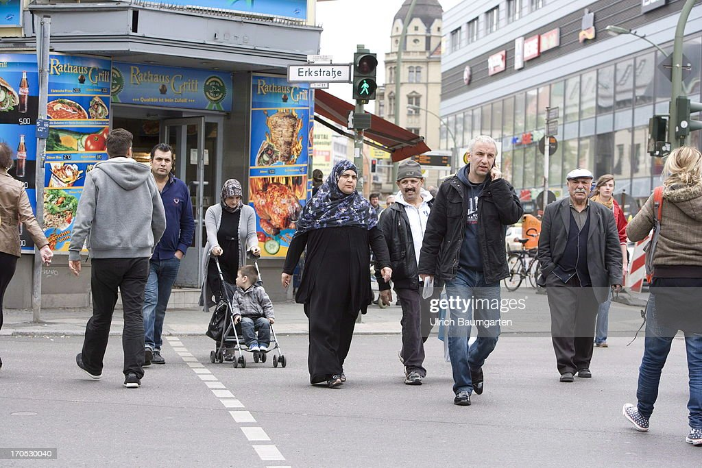 Turkish people in the district Neukoelln on May 27, 2013 in Berlin, Germany.