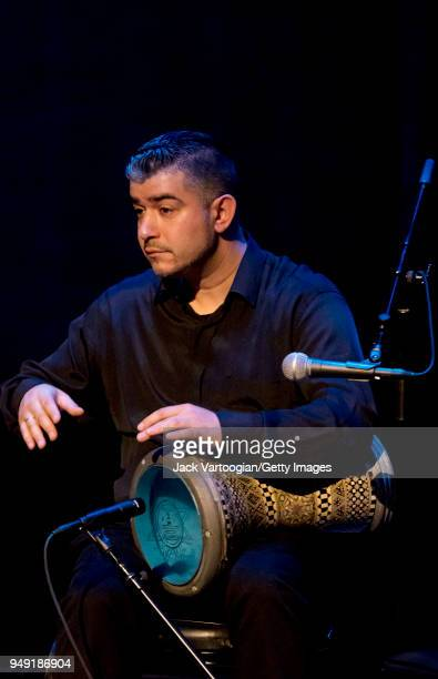 Turkish percussionist Murat Tekbilek performs on dumbek with his father's Omar Faruk Tekbilek Ensemble in a concert presented by Carnegie Hall and...