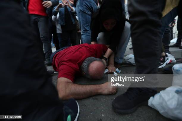 Turkish police arrested people who want to to break their fast on Istiklal street in Istanbul during the first day of the holy month of Ramadan...