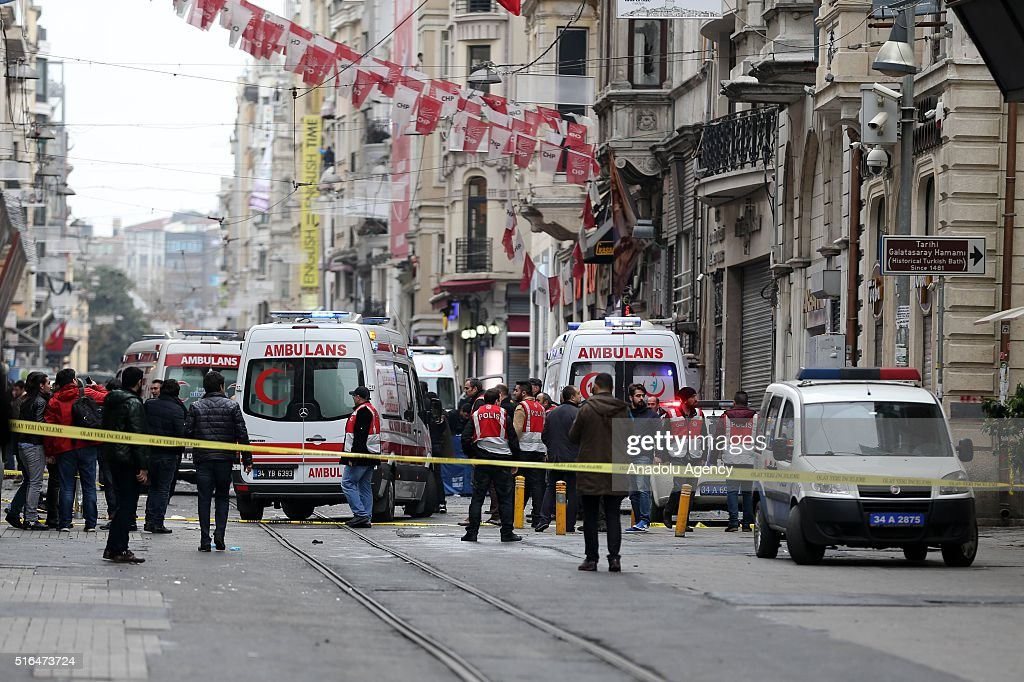 Explosion in Istanbul's Beyoglu : News Photo